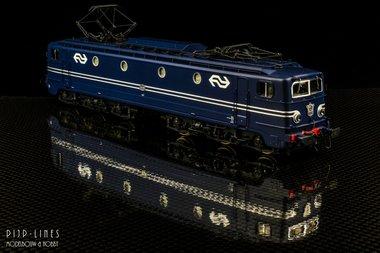NS E-lok 1308 blauw NS logo. DC Analoog