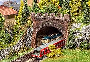 Twee Tunnelportalen, 2-sporig