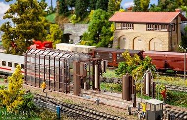 Kleine treinwasinstallatie