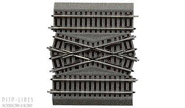 Roco-Line met bedding middelstuk voor dubbele kruising