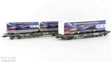 SBB HUPAC set van twee wagens Type Sdkmms