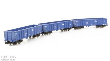 PKP Cargo open bak wagen set Type Eaos