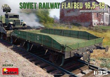 Spoorweg Soviet platte wagen 16,5-18t