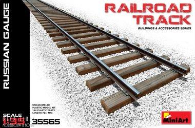 Stuk spoorrails Russisch voorbeeld