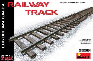 Stuk spoorrails Europees voorbeeld