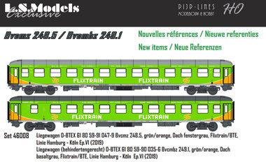 FlixTrain set van twee rijtuigen Type Bvcmz 248.5 / Bvcmbz 249.1