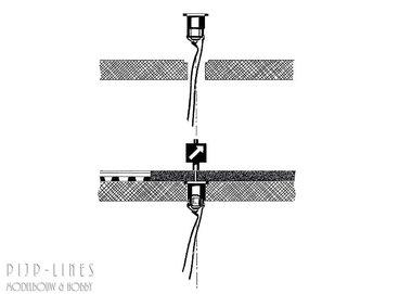MINITRIX Verlichtingsgarnituur voor wissellantaarn