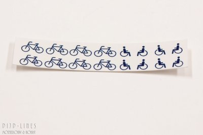 Decal set NS fiets en rolstoel iconen