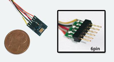 Lokpilot micro V4.0 DCC decoder NEM651 6-polig kabel