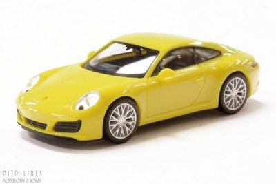 Porsche 911 Carrera 4S, geel