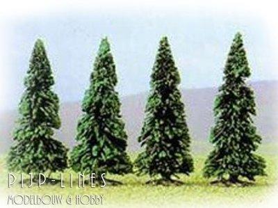 Vier Dennenbomen