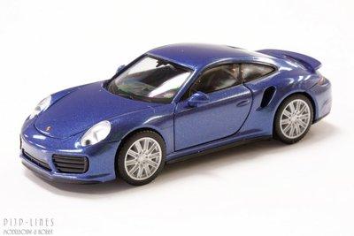 Porsche 911 Turbo blauw metallic