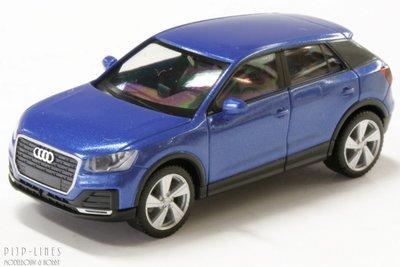 Audi Q2 metallic blauw