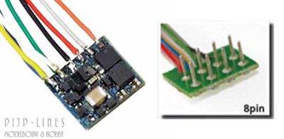 LokPilot Nano. Standaard decoder DCC 8-pol NEM652