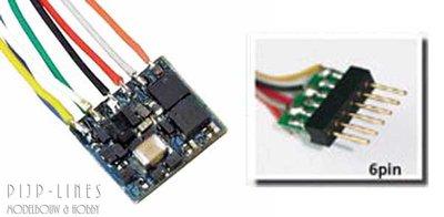 LokPilot Nano. Standaard decoder DCC 6-pol NEM651