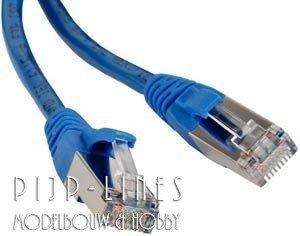 STP kabel 25 cm Blauw
