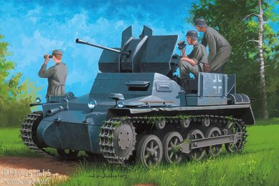 German Flakpanzer IA with Ammo Trailer