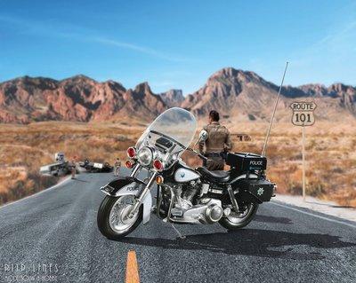 US Police Motorbike