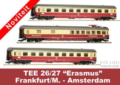 """DB 3-delige rijtuigen set TEE 26/27 """"Erasmus"""""""
