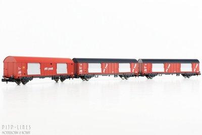 NS/PTT Post 3-delige wagen set Type Hbbkkss