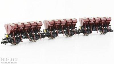 Fleischmann 845104 DB set van drie kiepwagens Type F-z 120
