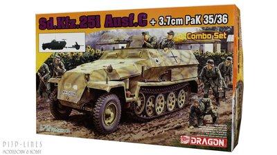 Dragon 7611 Sd.Kfz.251 Ausf.C + 3.7cm PaK 35/36 1:72