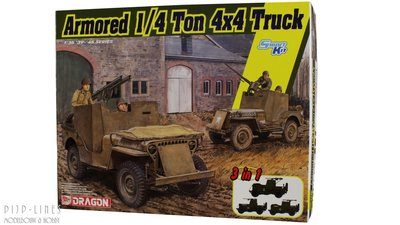 Dragon 6727 Armored 1/4 Ton 4x4 Truck (3 in 1)