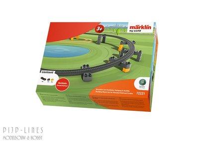 Marklin 72221 Märklin my world set bouwstenen viaductspoorweg stijging en daling