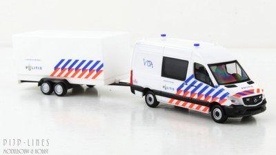 Herpa 937009 Mercedes Benz Sprinter Politie met aanhanger