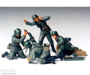 Tamiya 35193 German Infantry Mortar Team 1:35
