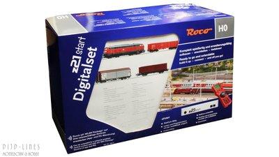 Roco 51312 Digitale startset z21start. DB Diesellok BR 218 met goederentrein