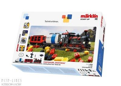 Marklin 29730 Start up - startset bouwsteenwagen met geluid en lichtbouwstenen