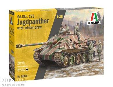 Italeri 6564 Sd.Kfz.173 JAGDPANTHER met winterploeg