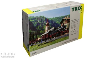 TRIX 21530 Analoge Startset DB BR 74 met goederentrein