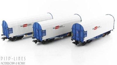 Marklin 47225 Rail Cargo Austria Huifwagen set voor staaltransport