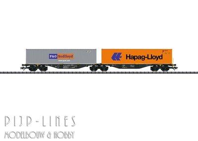 Marklin 47807 NL Dubbele containerwagen type Sggrss