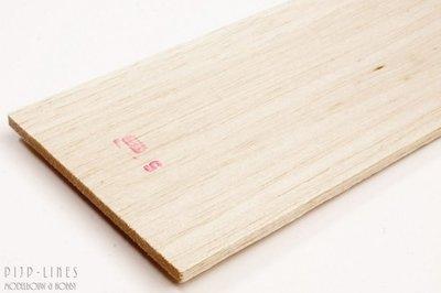 Balsa hout plank 5mm