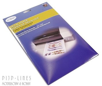 Testors 9202T Decal Papier wit 6 stuks