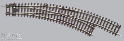 Piko 55223 gebogen wissel R2/R3 A Gleis