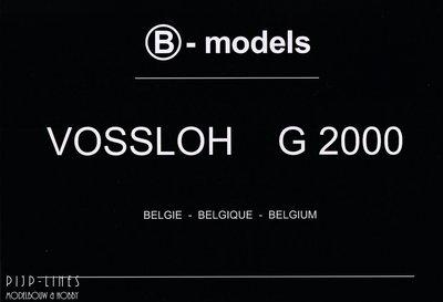 B-models G2000 diesellok serie fotoboek