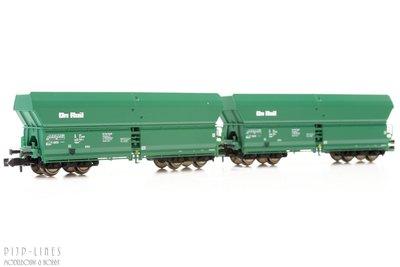 Fleischmann 852327 On Rail set van twee onderlossers type Falns