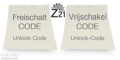 Roco 10818 z21start vrijschakel code