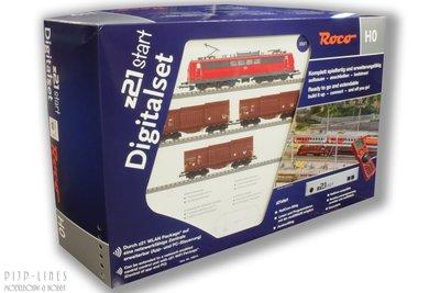 Roco 51293 Digitale startset z21start. DB E-lok BR 151 met staaltrein 1:87 H0