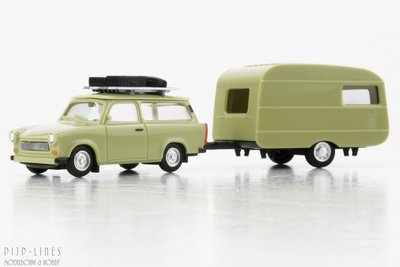 Herpa 28790 Trabant 601 met caravan 1:87 H0