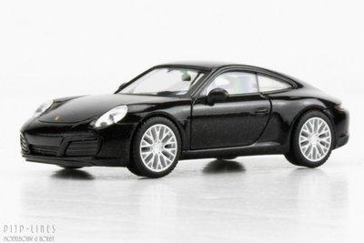 Herpa 38638 Porsche 911 Carrera 4S Zwart metallic 1:87 H0