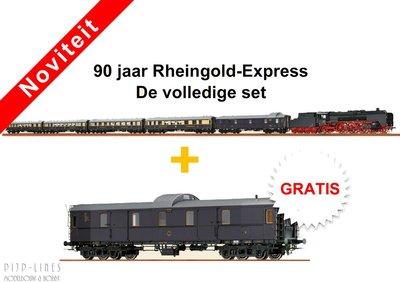 Brawa DRG BR 01 + volledige Rheingold rijtuigen set + Extra bagage wagen
