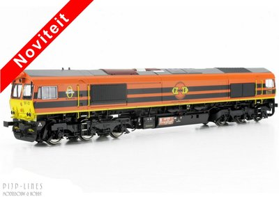 "ESU 31281-2 NL Rail Feeding Class 66 ""Orange"" Sound + Rook 1:87 H0"