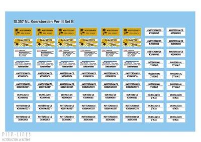 Artitec 10.357 NL Koersborden per. III set B