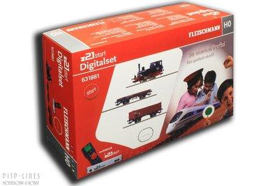 """Fleischmann 631881 Digitale startset """"z21start"""" DB stoomlok BR 98 met goederentrein"""