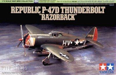 """Tamiya 60769 Republic P-47D Thunderbolt """"Razorback"""" 1:72"""